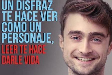 Daniel Radcliffe en campaña de lectura en México