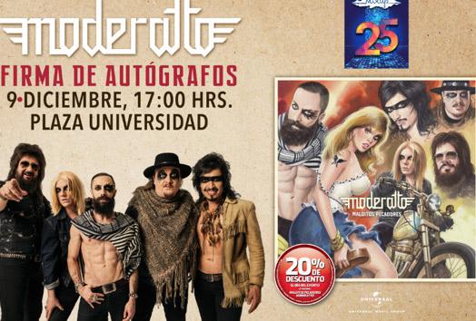 Firma de autógrafos de Moderatto en Plaza Universidad 9 de diciembre