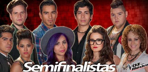 Semifinalistas La Voz México