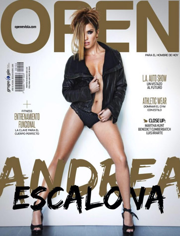 Andrea Escalona en revista Open