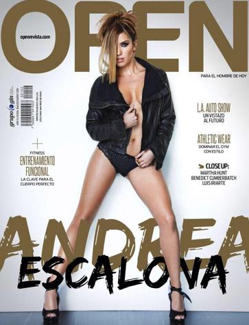 Andrea Escalona en portada de Open