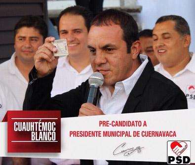 Cuauhtemoc Blanco precandidato de Cuernavaca