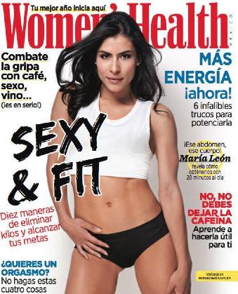 María León en resvista Women´s Health