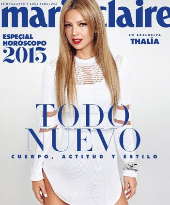 Thalía en la portada de Marie Claire