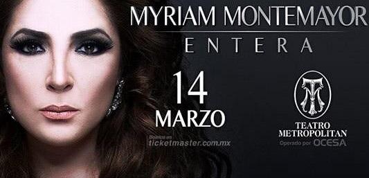 Myriam Montemayor 14 de marzo en Teatro Metropolitan