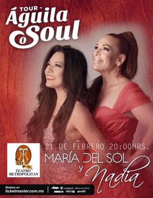 Nadia y María del Sol 21 de febrero en Teatro Metropolitan