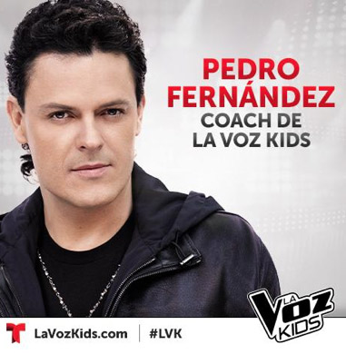 Pedro Fernández coach de La Voz Kids