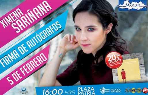 Firmas de autógrafos de Ximena Sariñana