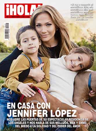 Jennifer López y mellizos en Hola