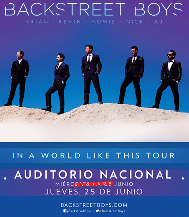 Backstreet Boys 25 de junio en Auditorio Nacional