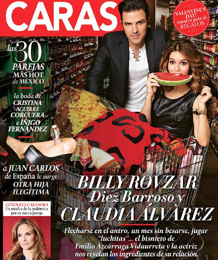 Billy rovzar y claudia lvarez en revista caras tv y for Chismes del espectaculo en mexico