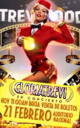 Gloria Trevi 21 de febrero en Auditorio Nacional