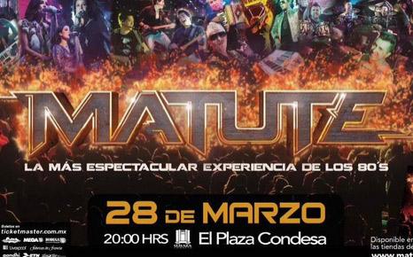 Matute 28 de marzo en Plaza Condesa