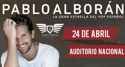 Pablo Alborán 24 de abril en Auditorio Nacional