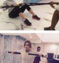 Raquel Bigorra haciendo ejercicio