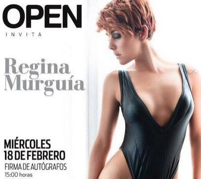 Firma de autógrafos de Regina Murguía
