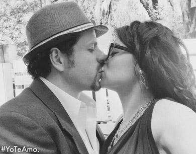 Violeta Isfel con Archie Balardi