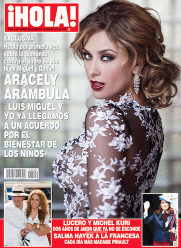 Aracely Arámbula en portada de HOLA