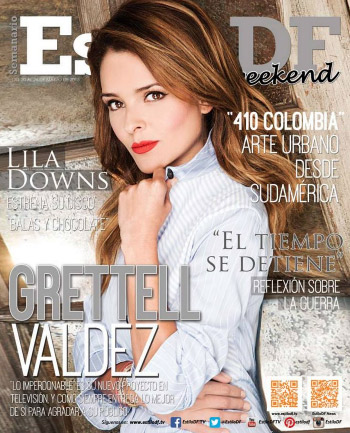 Grettell Valdez en Revista Estilo DF