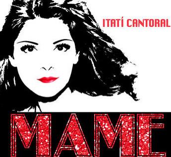 Itati Cantoral en promo de Mame