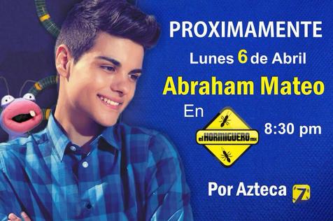 Abraham Mateo en El Hormiguero