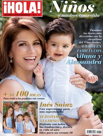 Alessandra Rosaldo e Inés Sainz festejan con sus hijos el mes del niño