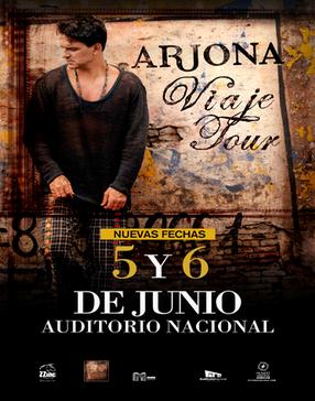 Arjona en Auditorio Nacional 5 y 6 de junio