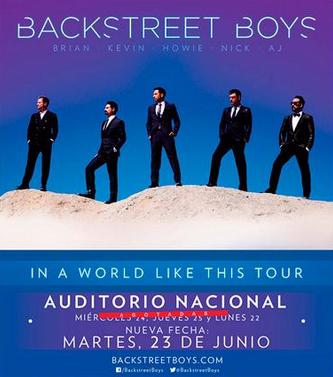 Backstreet Boy en Auditorio Nacional 23 junio