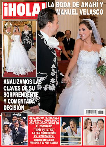 La boda de Anahí en la revista HOLA