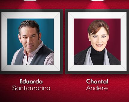 Chantal Andere y Eduardo Santamarina