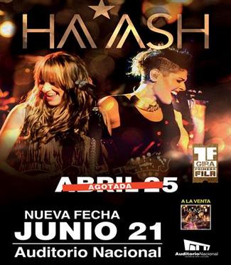 Ha-Ash en Auditorio Nacional 21 de junio