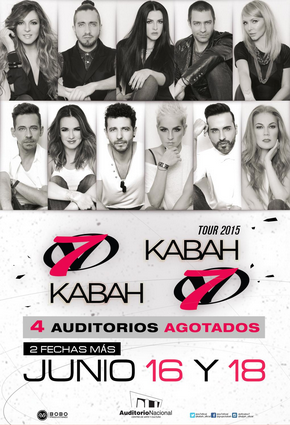 OV7 y Kabah 16 y 18 de junio en Auditorio Nacional