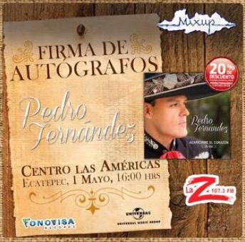 Pedro Fernández en Firma de Autografos