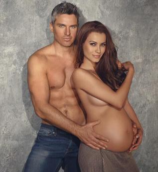 Ramiro Fumazoni y su esposa embarazada