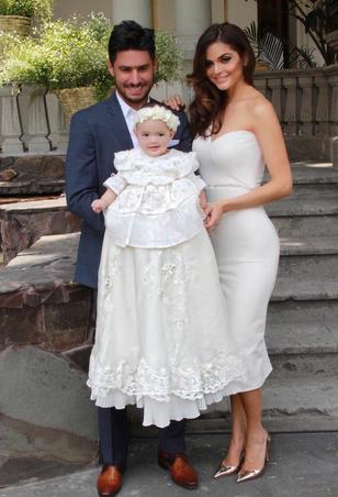 Marisol González bautizó a su hija