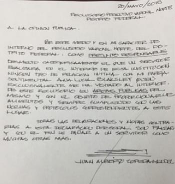 Juan Zepeda desmiente intimidad en el reclusorio