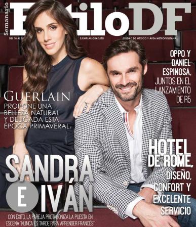 Sandra Echeverría e Iván Sánchez en Revista Estilo DF
