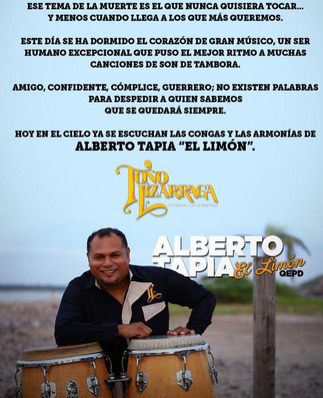 Mensaje de Toño Lizarraga a Alberto Tapia