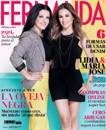 Lidia y María José en revista Fernanda
