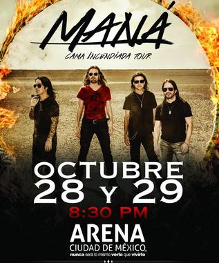 Maná en Arena Ciudad de México