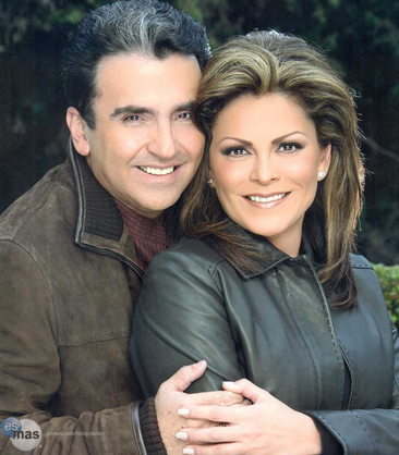 Mara Patricia y Vicente Fernandez Jr