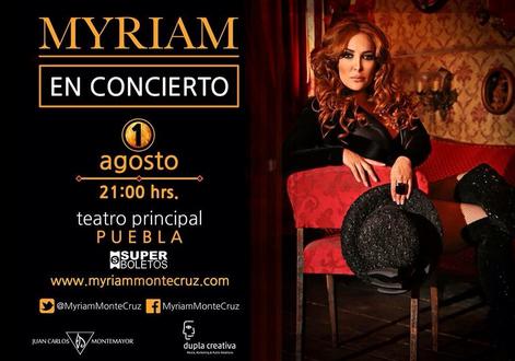 Myriam Montemayor en Puebla 1 de agosto