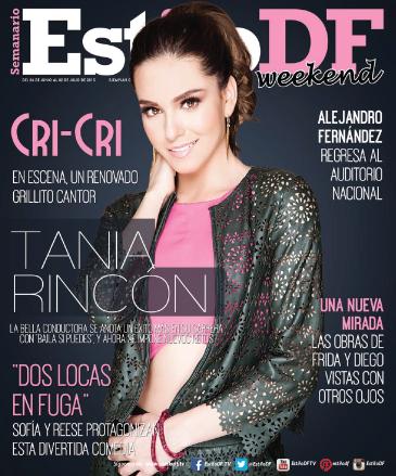 Tania Rincón en revista Estilo DF