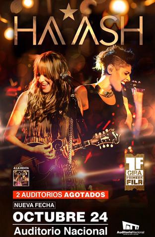 Ha-Ash en Auditorio Nacional 24 Octubre