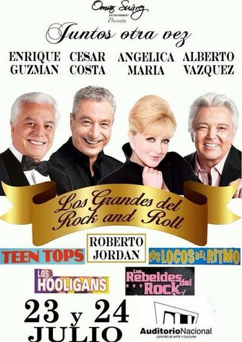 Enrique Guzmán, Angélica María y Alberto Vázquez en Auditorio Nacional 23 y 24 de julio