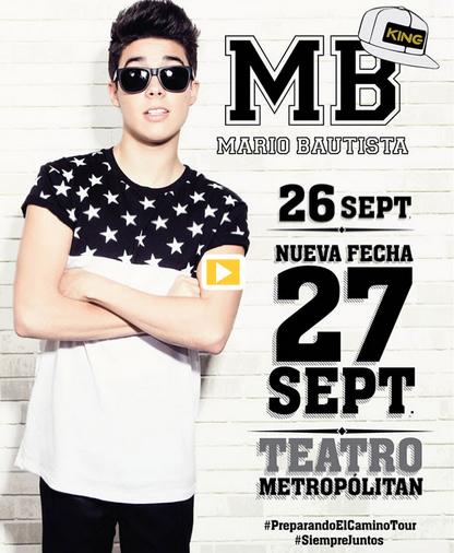 Mario Bautista en Metropolitan 27 de septiembre