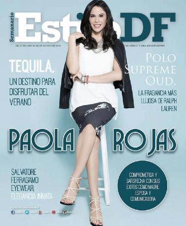 Paola Rojas en revista Estilo DF