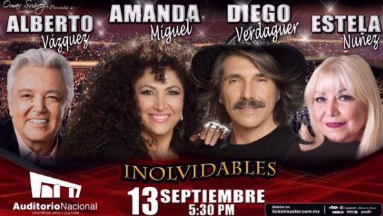 Amanda Miguel, Diego Verdaguer y Alberto Vázquez en Auditorio Nacional