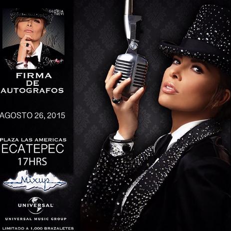 Firma de autógrafos de Gloria Trevi 26 de agosto en Ecatepec