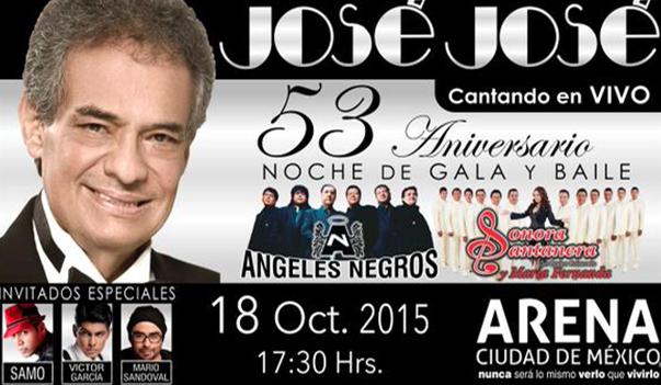 José José en Arena Ciudad de México 18 de octubre